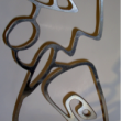 Mike Jansen - Abstract figure - polished steel